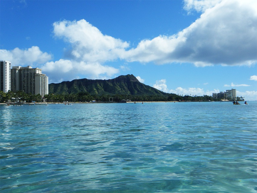 Diamond head from the water.