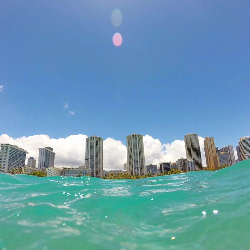 View of Waikiki from the water. #gopro