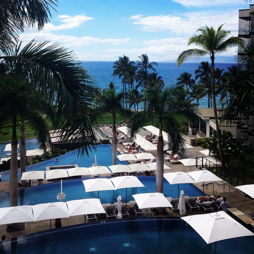 Picking up E&S&M at the Andaz Maui in Wailea