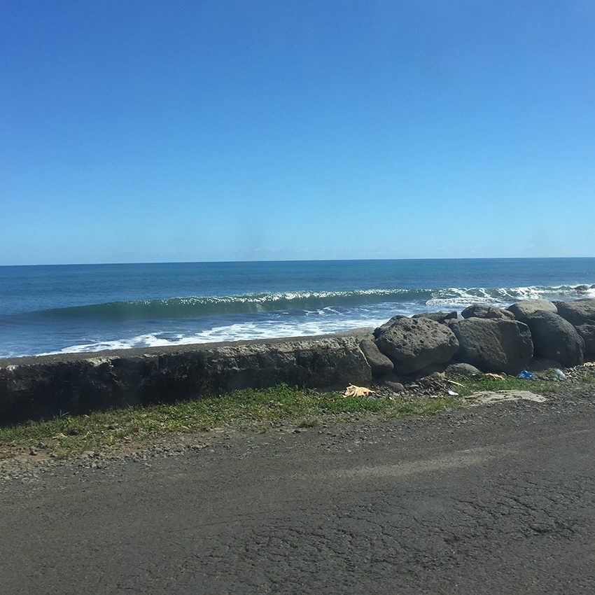 Driving by Orafara, another surf spot